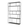 Black Iron Tall Double Shelving Unit