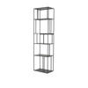 Black Iron Tall Single Shelving Unit