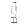Black Iron Tall Single Shelving Unit ( H: 180cm W: 50cm D: 30cm )
