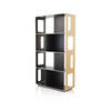 Tall Rect. Light Oak & Black Arne Shelving Unit