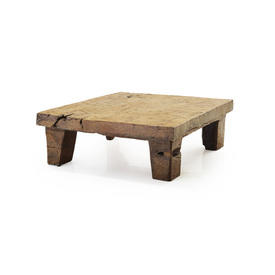 Square Solid Teak Carved Ethnic Coffee Table