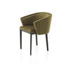 Olive Green Velvet 'vendome' Dining Chair