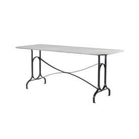 Zinc Top Dining Table on Metal Base