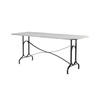 Zinc Top Dining Table On Metal Base ( H: 76cm L: 180cm W: 77cm )