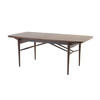 Rosewood 60's Dining Table On Spindle Legs (181 Cm X 90 Cm X 72 Cm)