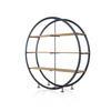 Iron & Oak Circular Shelving Unit ( H: 184cm W: 188cm D: 45cm )