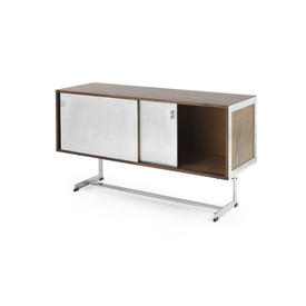 Rosewood ''Merrow'' Sideboard with Steel Sliding Doors