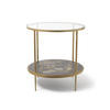 Circ Gold Leaf & Floral Painted Two Tier Hall Table
