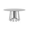 Silver 'bigwire' Dining Table With Circ. Brown Glass Top (145cm X H75cm)