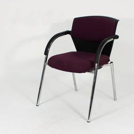 Purple And Chrome Visitor Elbow Chair