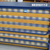 Blue & White  Folding 'z' Bed With Blue Top Headboard