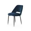 Petrol Blue Velvet 'andrew' Dining Chair