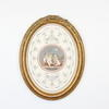 "18"" X 14"" Gilt Framed Oval Print 'peutto'"
