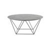 Circular Grey Mineral 'trapeze' Coffee Table
