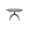 Black 'razor' Coffee Table With Black Marble Mix Top