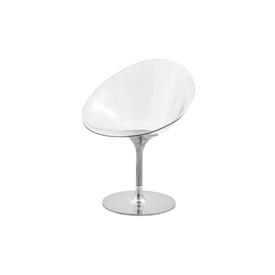 Clear Perspex & Chrome ''Ero'' Swivel Chair
