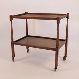 Mid Oak 2 Tier Spindle Frame Tea Trolley