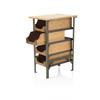 Green Metal & Wood Vintage 4 Drawer Factory Side Table Unit (77 Cm H X 40 Cm X 50 Cm) (, Vintage)