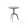 Black 'razor' Occasional Table With Black Marble Mix Top (50cm X 61cm H)