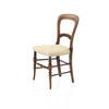 Dark Wood Victorian Single  Chair With Buttoned Seat  (, Vintage)