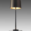 Large Dark Bronze 'veletto' Table Lamp With Brass Detail & Bronze Shade