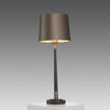 Small Dark Bronze  ' Veletto' Table Lamp With Brass Detail & Bronze Shade
