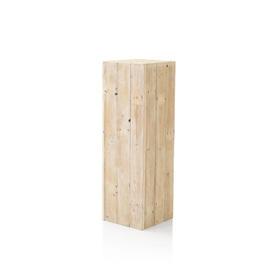 Medium Square White Wash Wood Pedestal