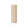 Large Square White Wash Wood Pedestal ( H: 120cm W: 30cm D: 30cm )