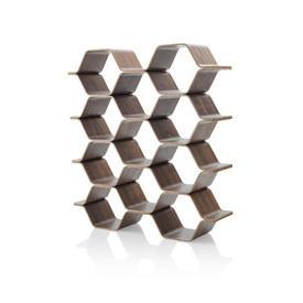Walnut Polygon Shelving Unit