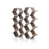 Walnut Polygon Shelving Unit