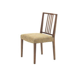 Rosewood Spindle Back Dining Chair with Green Tweed Seat