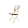 White Rustic Metal Garden Chair With Leaf Detail