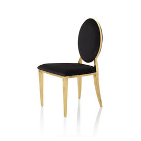 Black Velvet & Gold Dining Chair