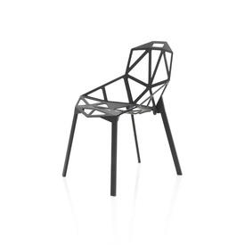Black Metal ''Chair one'' Dining Chair