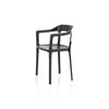 Black Metal Steelwood Dining Chair