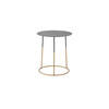 Tall Grey Metal 'nimbus' Lamp Table On Gold Base (45cm X 50cm H)