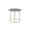 Medium Grey Metal 'nimbus' Lamp Table On Gold Base (45cm X 40cm H)