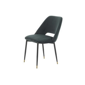 "Dark Green Velvet ""Andrew"" Dining Chair"