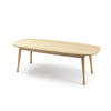 Light Wood Oval Coffee Table  (120cm X 50cm X 40cm H)