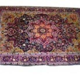 "10'8""  x  7' Purple, Red & Blue Pattern Carpet"
