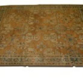 """11  x  8'3"""" Tan & Green Pattern Carpet"""