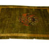 "11'3"" X 8'10"" Sage Green With Gold Border Carpet With Dragon Medallion (Y)"