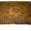 "10'10"" X 9' Blue, Gold & Brown Pattern Carpet  (Y)"