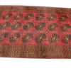 "9'9"" X 6'6"" Gold & Red Afghan Carpet  (Y)"