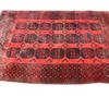"12'3"" X 8'9"" Red & Black Afghan Carpet  (Y)"
