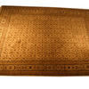 "11'4"" X 8'4"" Cream & Green Hamadan Carpet  (Y)"