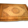 11' X 8' Gold, Cream & Blue Hamadan Carpet  (Y)