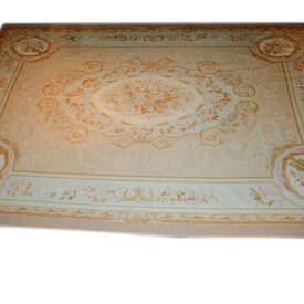 12'  x  9' Beige & Cream Aubusson Carpet