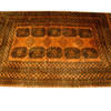 "9' X 6'6"" Gold & Black Afghan Carpet  (Y)"