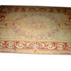 "14'2"" X 9'10"" Pink, Cream Aubusson Carpet  (Y)"